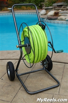 Yard Butler 200' Two Wheeled Metal Hose Reel Cart