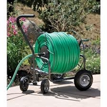 Yard Butler 400' Capacity Four Wheel Hose Cart with EZTURN Handle