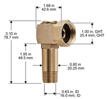 & Brass Swivel for Liberty Garden Products | MyReels.com