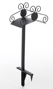 Liberty Garden Products Ornamental Lawn Garden Hose Stand - 2 Prong