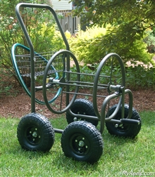 Liberty Garden Products 250' Four Wheel Hose Reel Cart