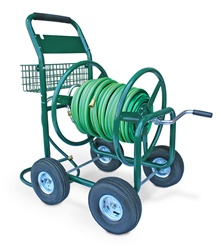 Liberty Garden Products 350' Industrial Grade Garden Four Wheel Hose Reel Wagon (with pneumatic wheels)