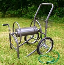 Liberty Garden Products 300' Industrial Grade Two Wheel Hose Reel Cart (with large pnuematic wheels)