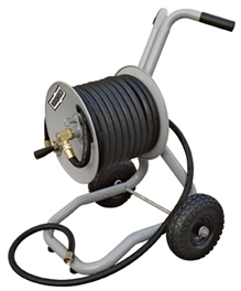 Roughneck 163151 steel 2 wheel garden hose cart for Strongway garden hose reel cart